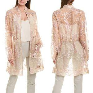 Elie Tahari | Nicolette Sheer Silk Coat